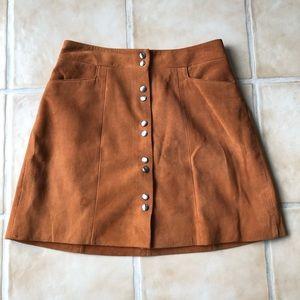 Intermix Sierra Suede Mini Skirt